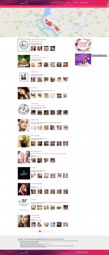 Каталог салонов красоты (Yii2)