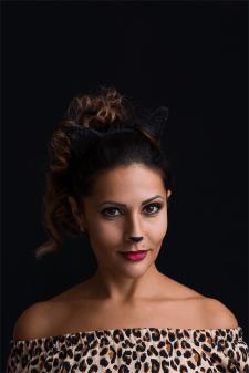 Портрет женщины-кошки