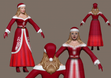 лоупольная модель, мисс Санта