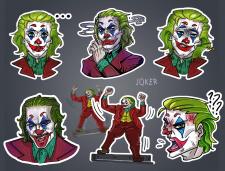 Стикерпак с Джокером (для телеграм)