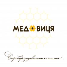 """Дизайн логотипа """"Медовиця"""""""