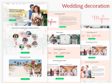 Wedding decoration landing page