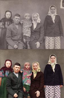 Реставрация и оцветнение фото