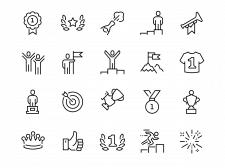Иконки - тематика успех