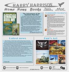 Дизайн главной страницы сайта Гарри Гаррисона