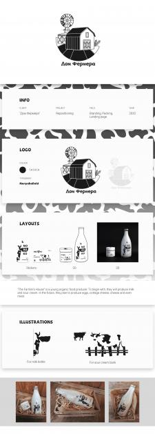 """Фирменный стиль """"Дом Фермера"""" (логотип, упаковка)"""