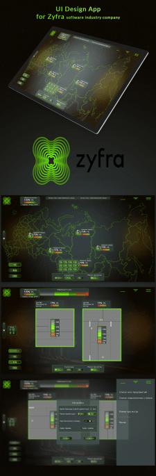 Дизайн приложения для компании Zyfra