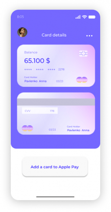 Mobile app Bank