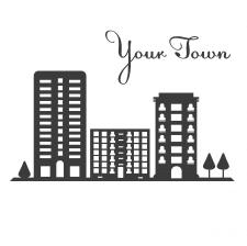 Город вектор