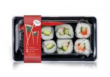 Наклейка на бокс для суши