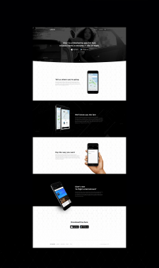 Landing page for UBER