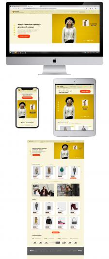 Адаптивный дизайн для Инернет магазина одежды