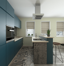 Interior design kitchen in Kyiv