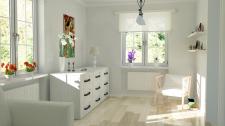 Визуализация и дизайн комнаты в норвежском стиле
