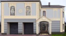 Дизайн фасада жилого дома в классическом стиле