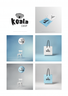 "Brand Identity ""Koala Shop"" Айдентика"