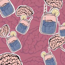 """Абстрактна ілюстрація """"Мозок"""""""