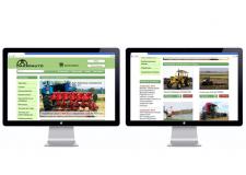 Дизайн интернет магазина с/х техники Dakar