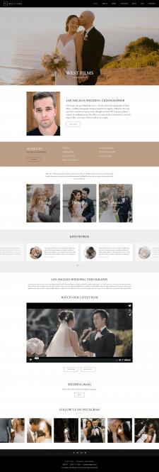 Дизайн сайта для видеографа