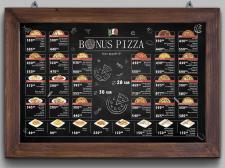 Chalkboard menu 85X55 cm
