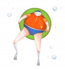 Розробка персонажа  | водолаз Поль