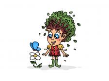 Персонаж для эко-бренда