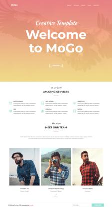 MoGo landing-page