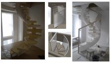 Скляні поручні гвинтових сходів