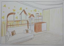 визуализация дизайн детской комнаты