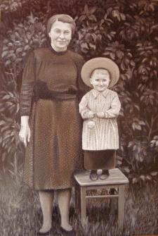 Портрет на заказ в сепии