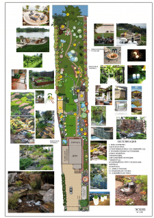 Проект сад на склоне в с. Лука
