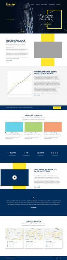 Landing Page на Bootstrap 4