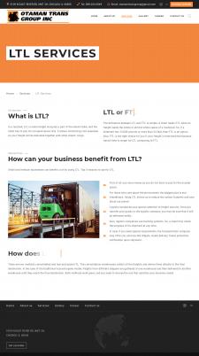 Описание транспортных услуг компании