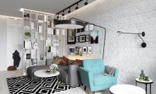Дизайн проект гостиной для молодой семьи в г.Днепр