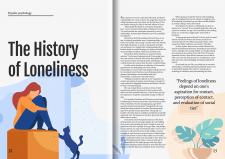 Magazine double-page spread