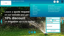Orlando irrigation services - прототип 3 страниц,