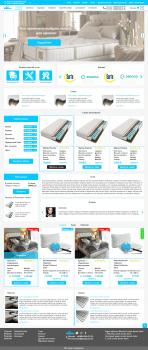 Дизайн интернет магазин матрасов