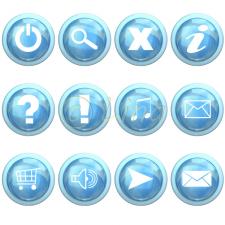 Голубые кнопки
