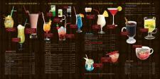 """Барная карта для кафе """"Африкана"""" (внутр. сторона)"""