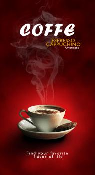 Постер для кофе