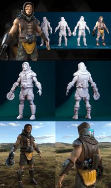 3Д персонаж для мобильной игры