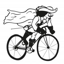 Мушкетер на велосипеде