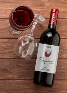 логотип пляшки вина