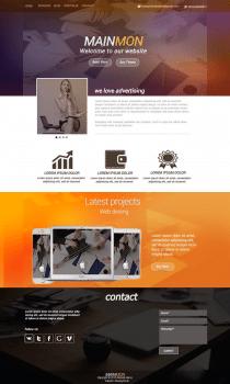 Дизайн рекламного сайта