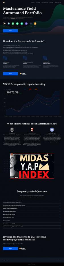 Masternode Yield Automated Portfolio