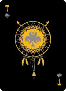 Spielkarten Indians- Skelette16