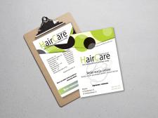"""Рекламные листовки для парикмахерской"""" Hair Care """""""