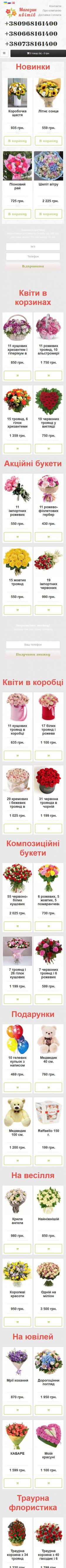 Верстка моб. версии интернет-магазина