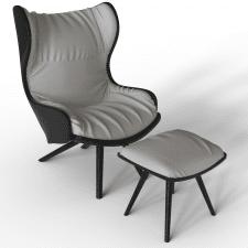 Кресло с оттоманкой
