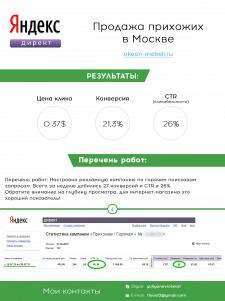 Яндекс Директ - Мебель Москва